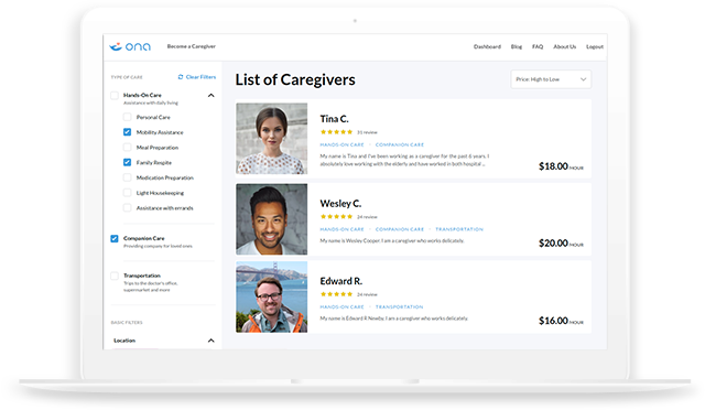 List of Caregivers